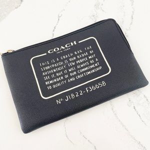 Coach Creed Leather Cosmetic Pouch